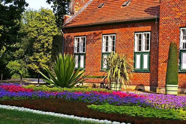 Planter beds outside of your home